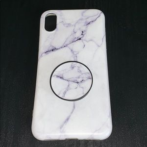 Accessories - Marble phone case with phone stand